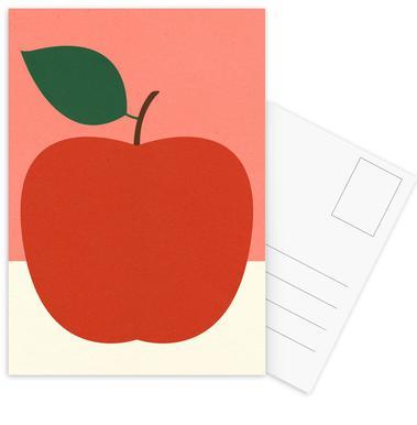 Red Apple -Postkartenset