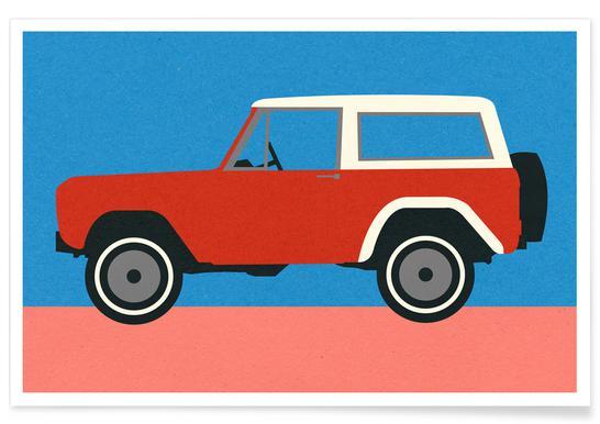 Red SUV affiche