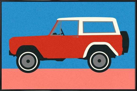 Red SUV Poster in Standard Frame