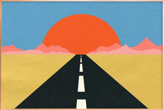Road to Sun Plakat i aluminiumsramme