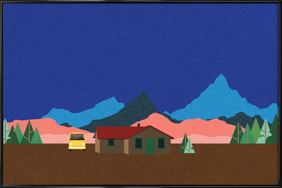 Sierra Nevada Mountain Hut Plakat i standardramme