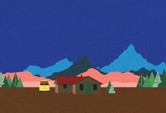 Sierra Nevada Mountain Hut tableau en verre