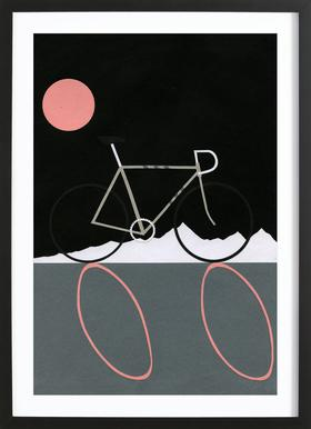 Tour de Noir Poster in Wooden Frame