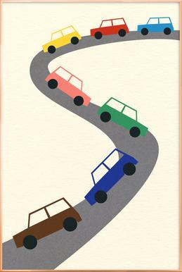 Traffic Poster im Alurahmen