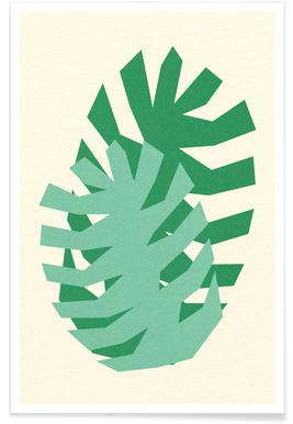 Two Palm Leaves Poster