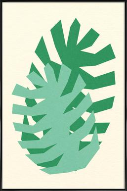 Two Palm Leaves Poster in Standard Frame