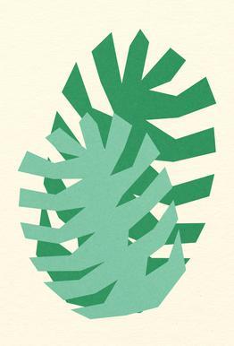 Two Palm Leaves Aluminium Print