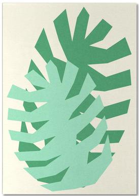 Two Palm Leaves Notizblock