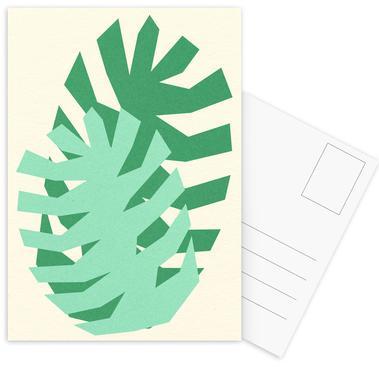 Two Palm Leaves Postcard Set