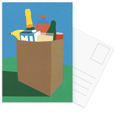 Weekly Grocery Haul Postkartenset