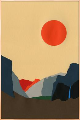 Yosemite Valley Poster in Aluminium Frame