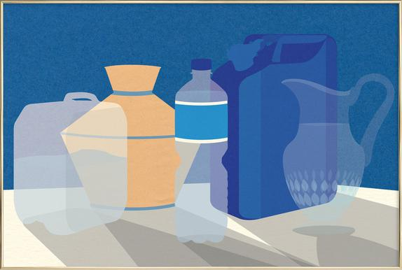 5 Wasserbehälter -Poster im Alurahmen