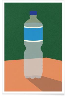 Wasserflasche -Poster