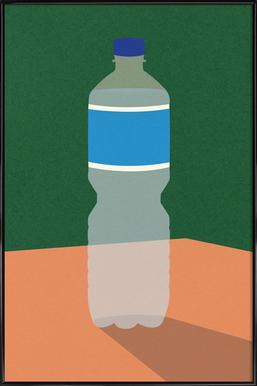 Wasserflasche -Bild mit Kunststoffrahmen