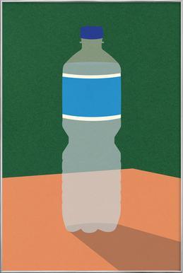 Wasserflasche -Poster im Alurahmen
