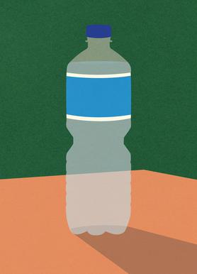 Wasserflasche -Leinwandbild