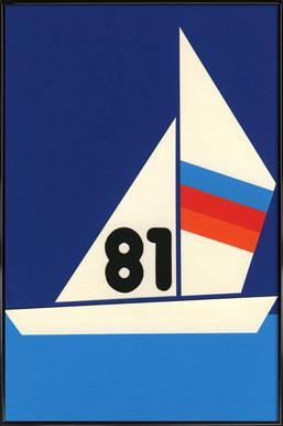 Sailing Regatta 81 Affiche sous cadre standard