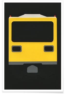 Berlin Subway Car GI E1 Affiche