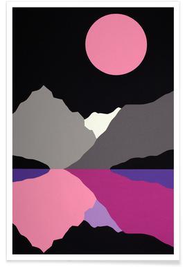 Moonlight On Lake Tenaya poster