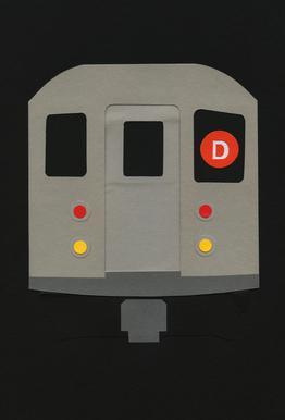 New York Subway Car R62 -Acrylglasbild