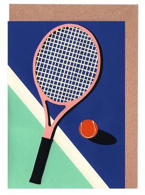 Tennis greeting cards juniqe uk malibu tennis club rosi feist greeting card set m4hsunfo