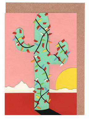 Christmas Cactus Set de cartes de vœux