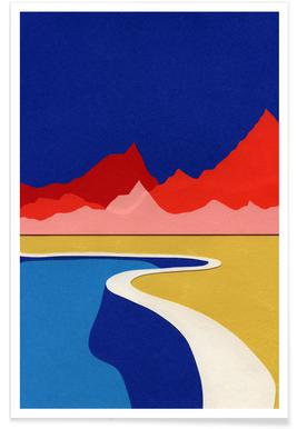 Red Hills Desert Pool Poster