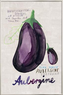 Aubergine Poster im Alurahmen