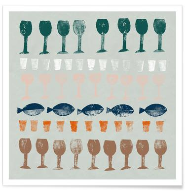 Fish and Wine 1 Poster