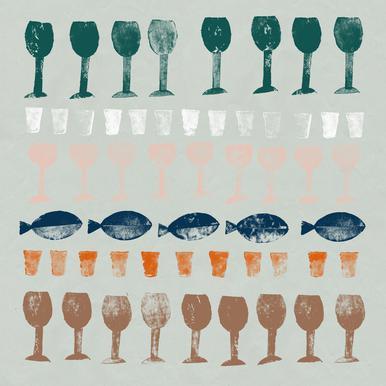 Fish and Wine 1 Leinwandbild