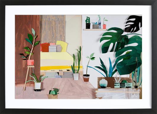 My Home Is My Garden Poster im Holzrahmen