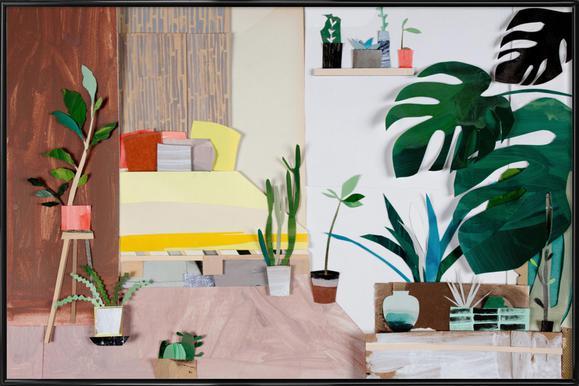 My Home Is My Garden Poster im Kunststoffrahmen