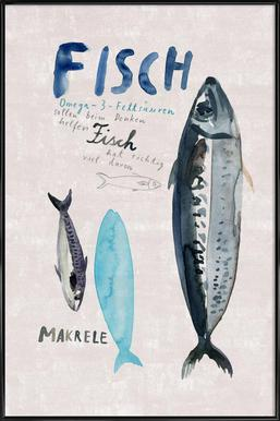 Fisch Poster im Kunststoffrahmen
