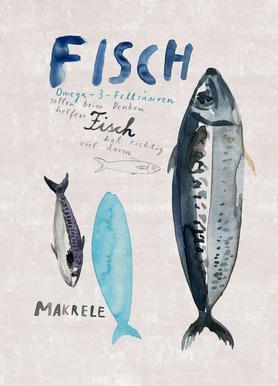 Fisch Leinwandbild
