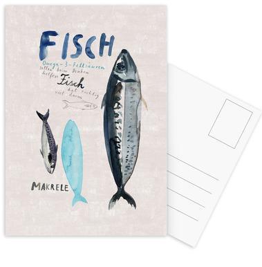 Fisch Postkartenset