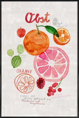 Obst Poster im Kunststoffrahmen