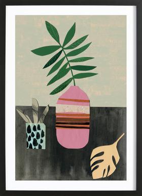 Vasen & Co. 3 -Bild mit Holzrahmen