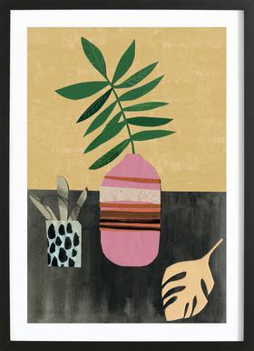 Vasen & Co. 4 Poster im Holzrahmen