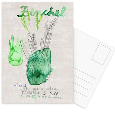Fenchel Postkartenset
