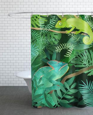Chameleons Douchegordijn