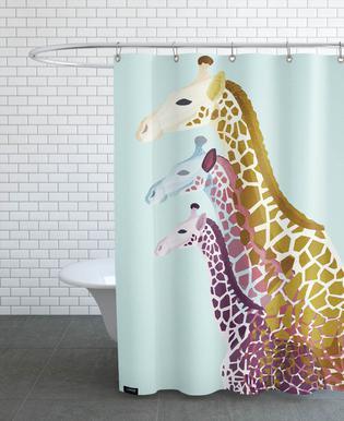 Giraffes Mint As Shower Curtain By Goed Blauw