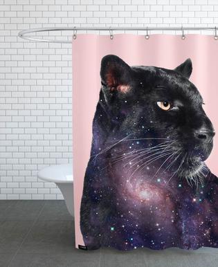 Galaxy Panther Duschvorhang