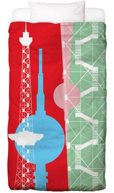 Berliner Fernsehturm + Funkturm kinderbeddengoed