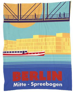 Berlin Spreebogen plaid
