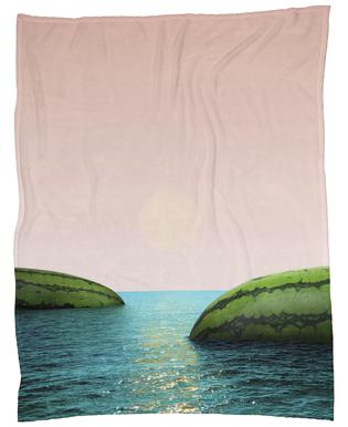 Melon Shore Fleece Blanket