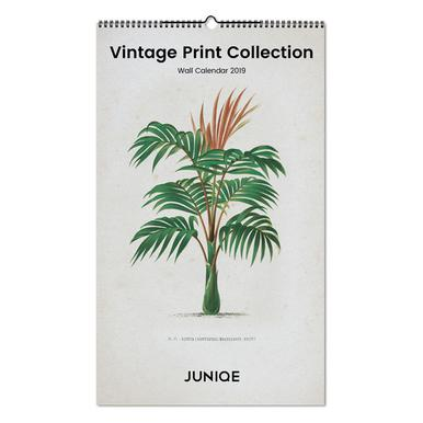 Vintage Print Collection 2019 Wall Calendar