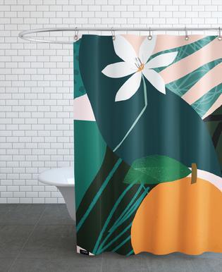 Orange Duschvorhang
