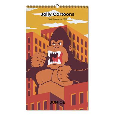 Jolly Cartoons 2019 Wall Calendar