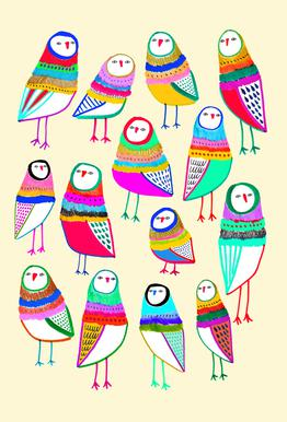 Owl Pattern 1 -Alubild