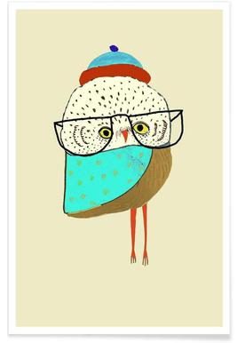 Owl Ickle Poster
